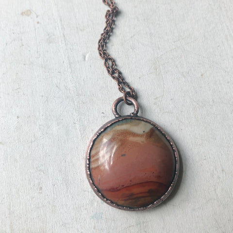 Polychrome Jasper Moon Necklace #4