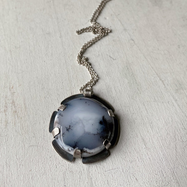 Dendritic Opal Necklace #1 - Sterling Silver