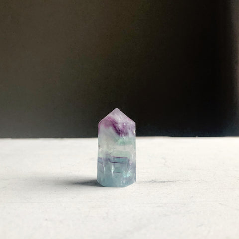 Fluorite Polished Point Necklace #6 - Equinox 2020