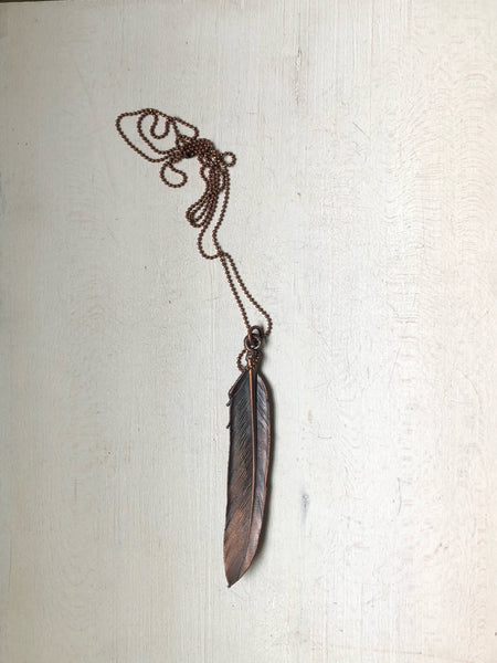 Electroformed Feather Necklace #3 (Satya Collection)