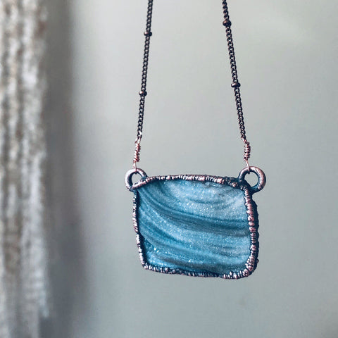 Chalcedony Rectangle Necklace - Ready to Ship