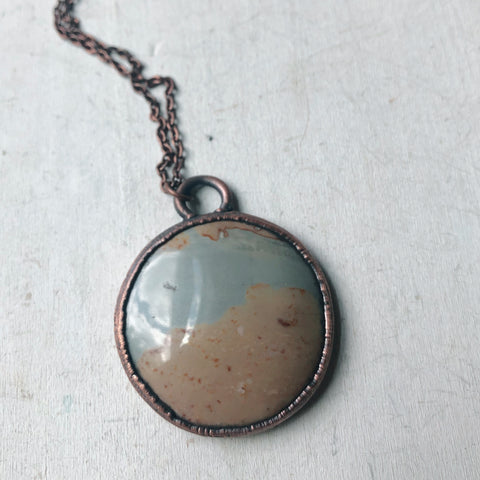 Polychrome Jasper Moon Necklace #9
