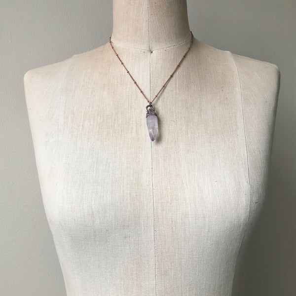 Vera Cruz Amethyst Point Necklace #4 - Snow Moon Collection
