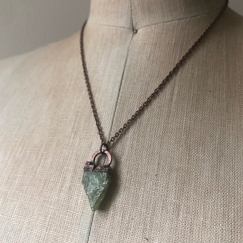 Raw Green Kyanite Necklace #1 - Ready to Ship