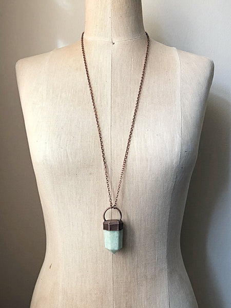Amazonite Six-Sided Point Necklace