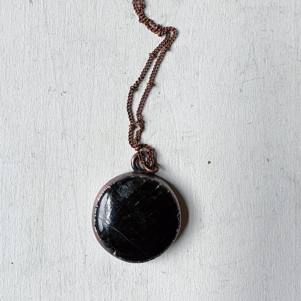 Hypersthene Black Moon Lilith Necklace #1 - Ready to Ship