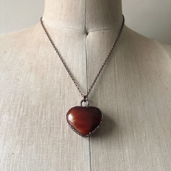 Carnelian Heart Necklace #1