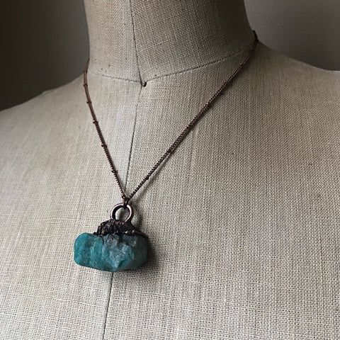 Raw Amazonite Necklace - Made to Order