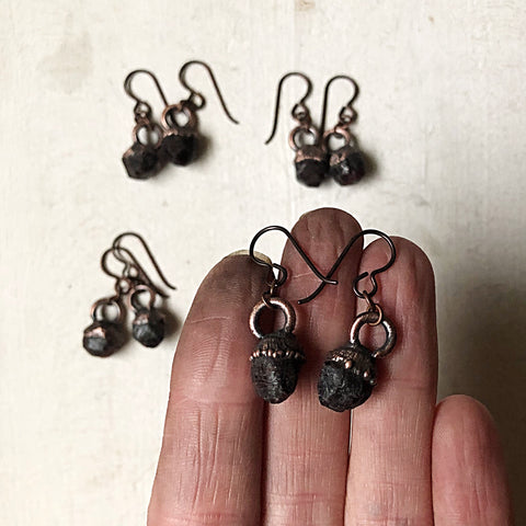 Raw Garnet Hanging Earrings (2019.1.1)