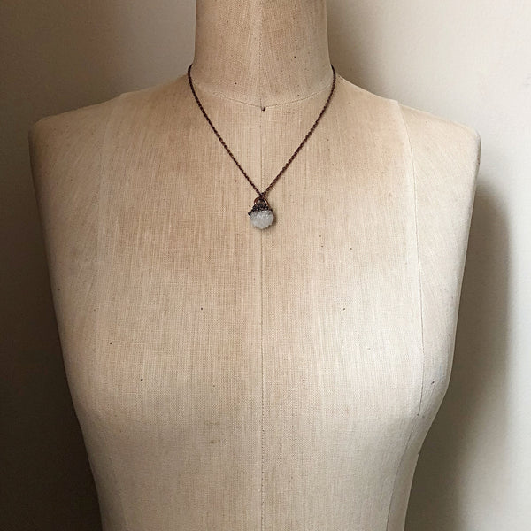 Clear Quartz Druzy Necklace