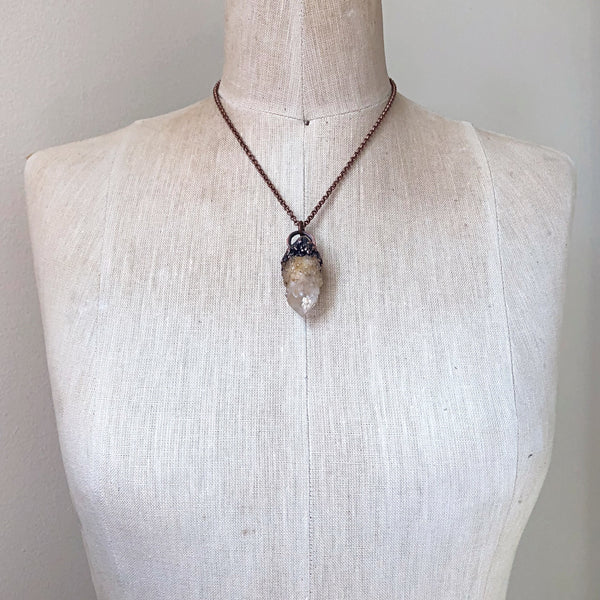 Candle Quartz Statement Necklace #3 - Summer Solstice Collection 2019