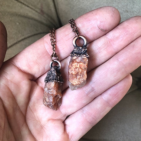 Raw Sunstone Necklaces - Summer Solstice Collection 2019