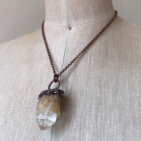 Candle Quartz Statement Necklace #2 - Summer Solstice Collection 2019