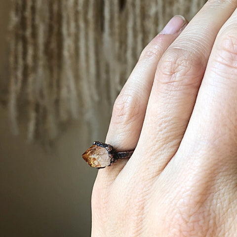 Raw Citrine Ring #3 (Size 4.75-5) - Summer Solstice Collection 2019