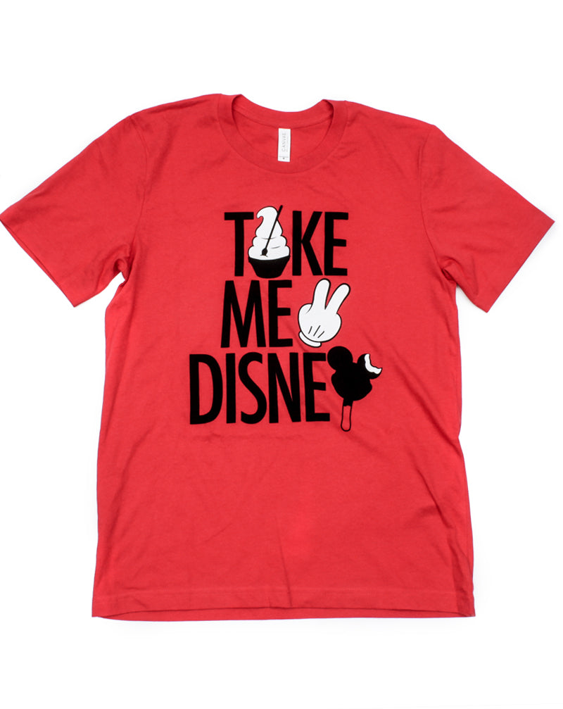 Take Me 2, Crew Neck Tee, Red