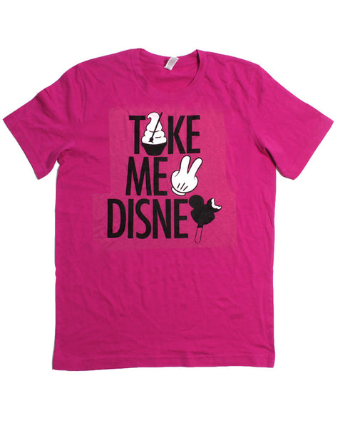 Take Me 2, Crew Neck Tee, Berry