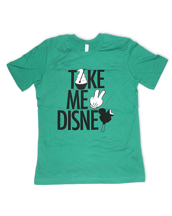 Take Me 2, Crew Neck Tee, Green