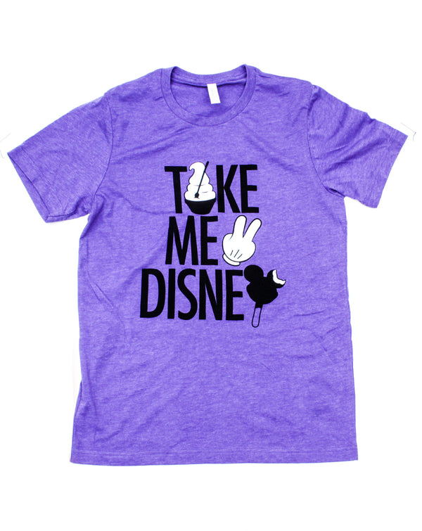 Take Me 2, Crew Neck Tee, Purple Heather