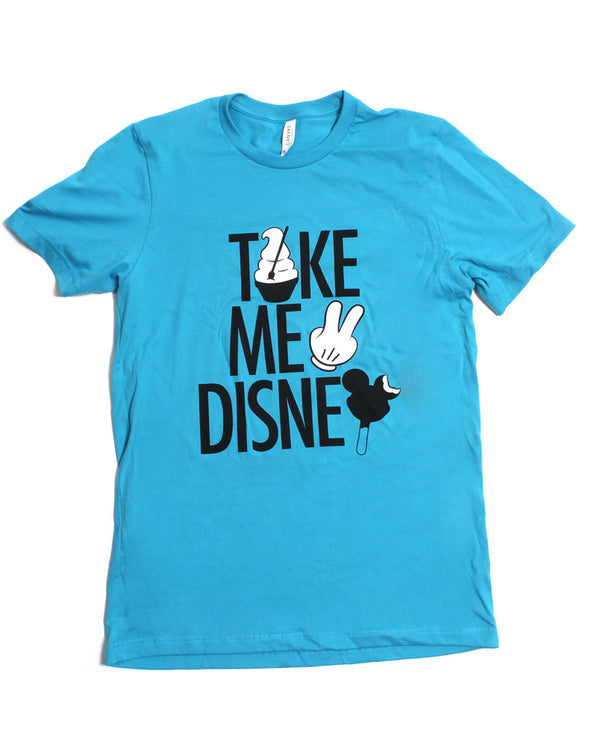 SALE, Take Me 2, Crew Neck Tee, Aqua
