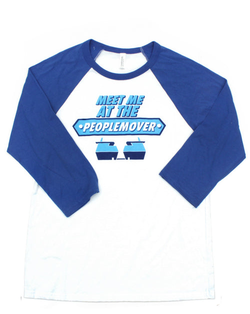People Mover, 3/4 Sleeve Raglan, White/Royal Blue