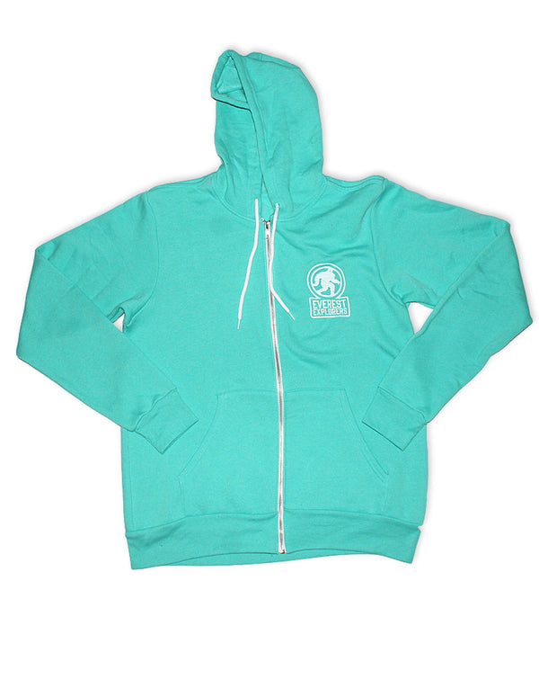 Everest, Full Zip Fleece Hoodie, Teal