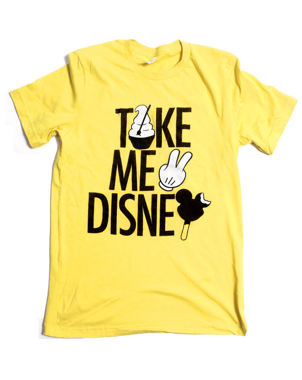 Take Me 2, Crew Neck Tee, Yellow