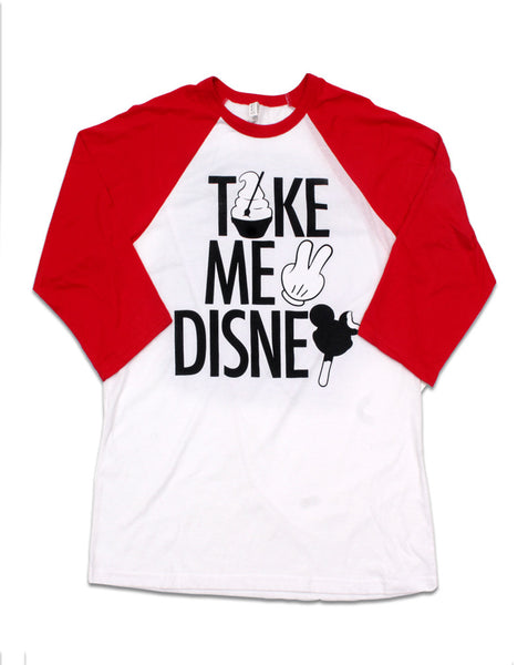 Take Me 2, 3/4 Sleeve Raglan, Red/White