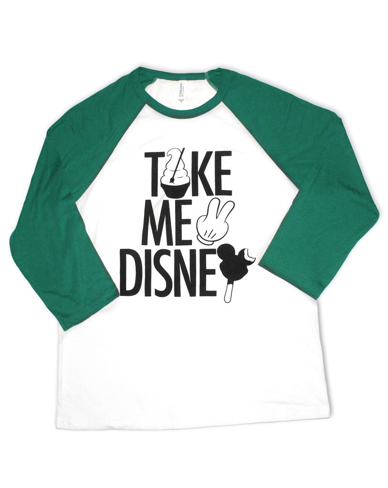 Take Me 2, 3/4 Sleeve Raglan, Green