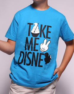 Take Me 2, Kids Crew Neck Tee, Cobalt