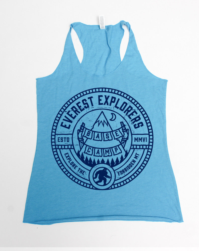 SALE Everest, Relaxed Racerback Tank Top, Aqua