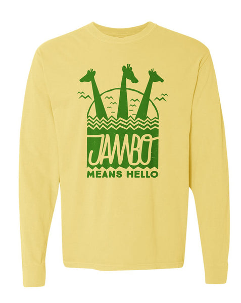 Jambo, Long Sleeve Tee, Yellow
