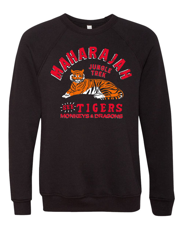 Maharajah Jungle Trek, Fleece Crewneck Sweatshirt, Pitch Black