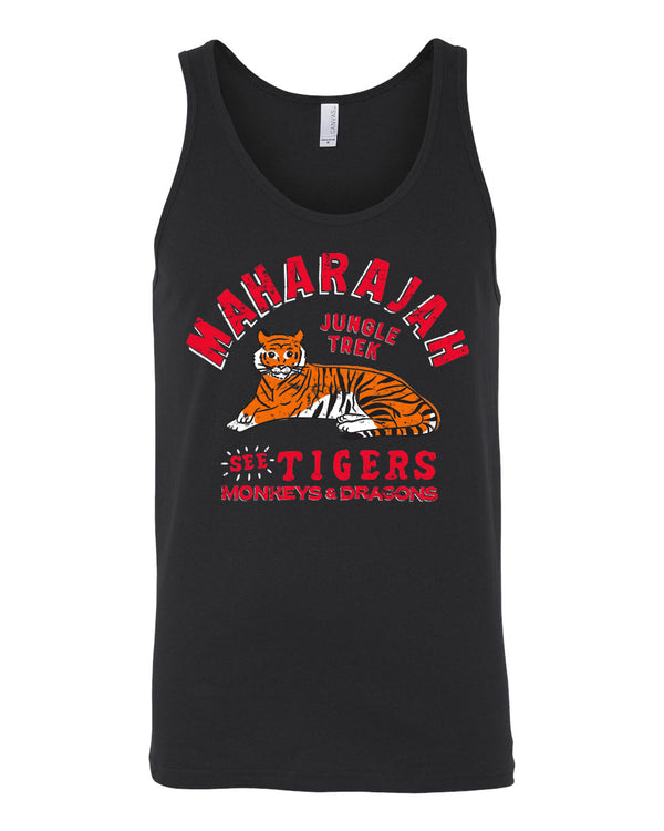 Maharajah Jungle Trek, Unisex Tank, Pitch Black