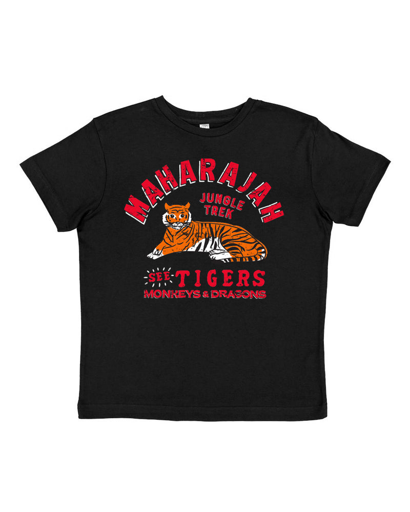 Maharajah Jungle Trek, KIDS Crew Neck Tee, Pitch Black