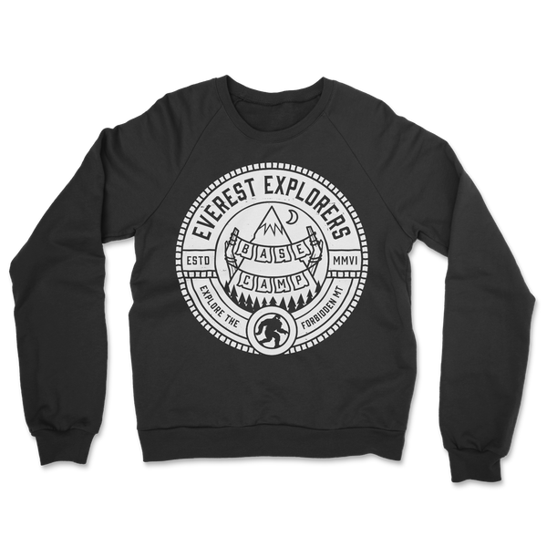 Everest, Fleece Crewneck Sweater, Black
