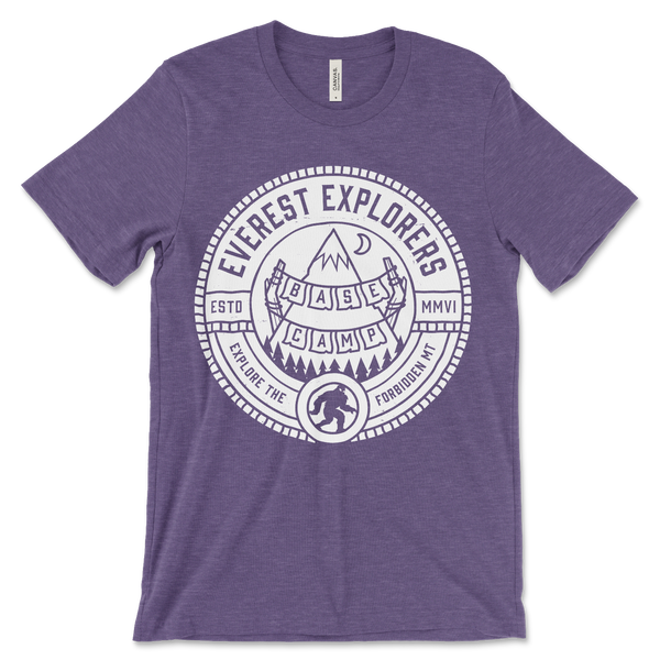 Everest, Crew Neck Tee, Heather Purple