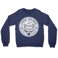 Everest, Fleece Crewneck Sweater, Navy