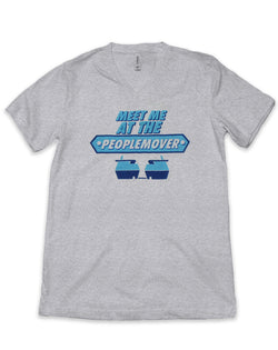 People Mover, Unisex V Neck Tee, Grey