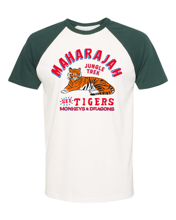 Maharajah Jungle Trek, Short Sleeve Raglan Tee, Forest Green