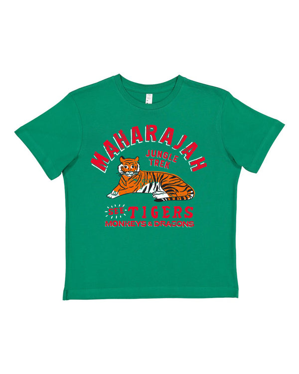 Maharajah Jungle Trek, KIDS Crew Neck Tee, Jungle Green