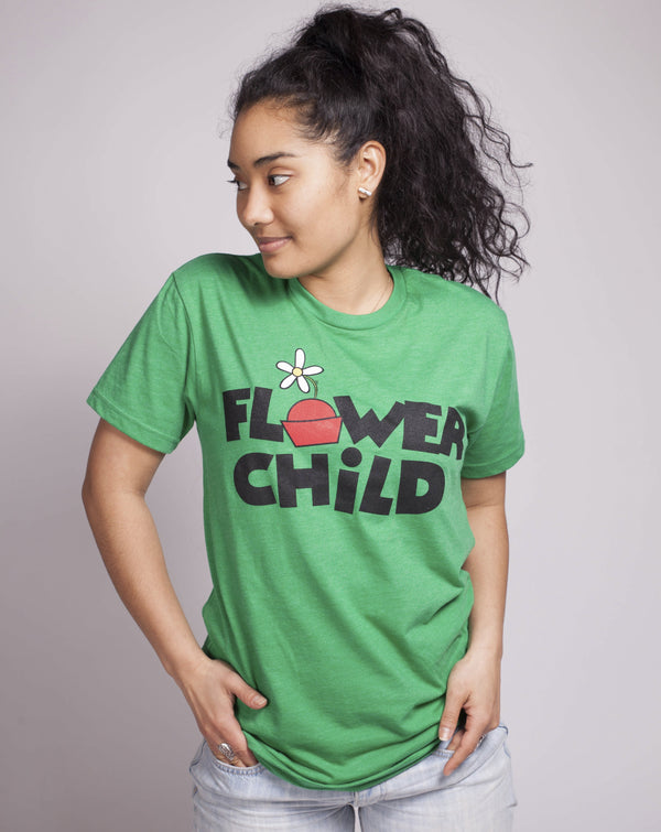 SALE Flower Child, Crew Neck Tee