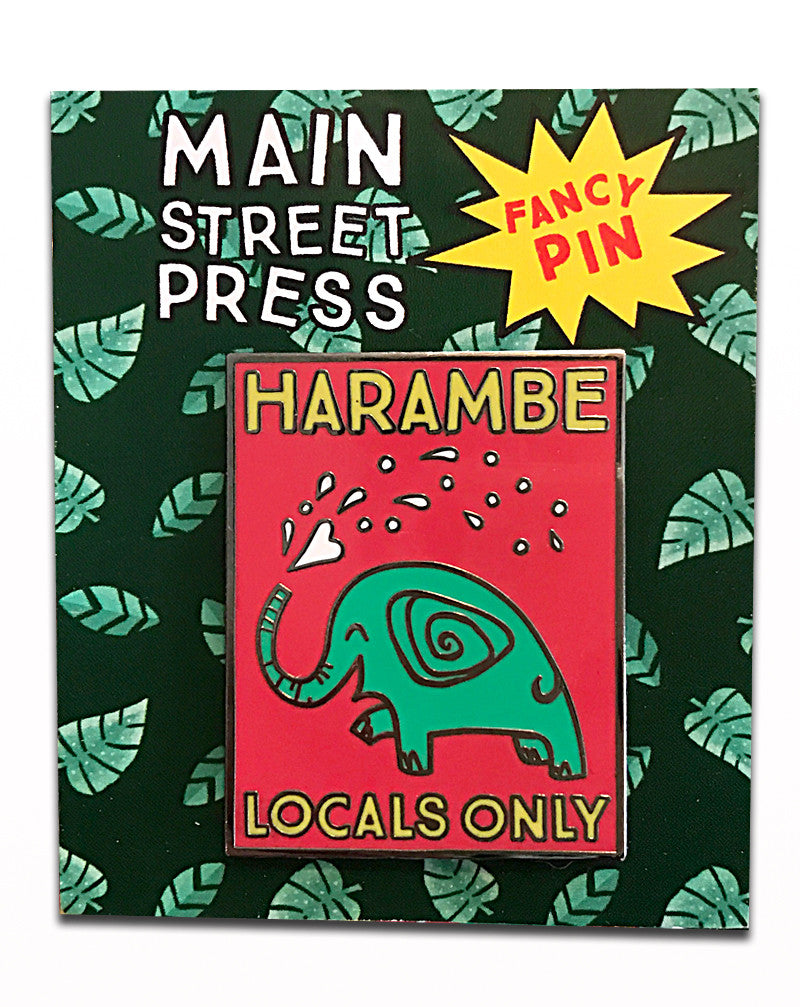 SALE, Harambe Locals Only, Fancy Pin