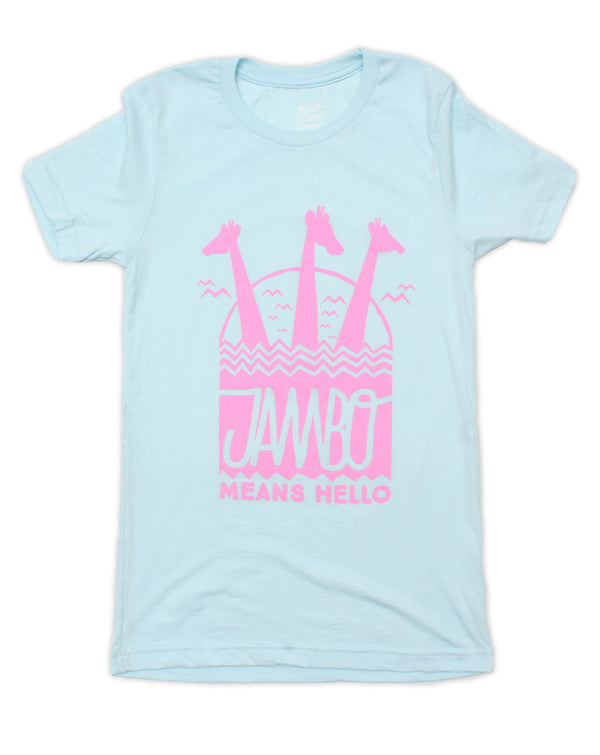 Jambo, Crew Neck Tee, Ice Blue
