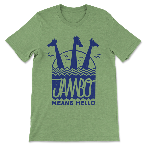 Jambo, Crew Neck Tee, Green Triblend