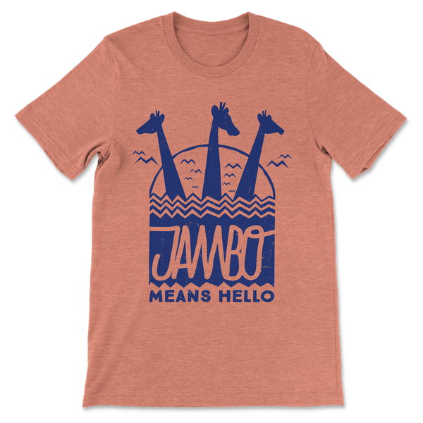Jambo, Crew Neck Tee, Orange
