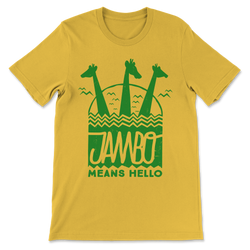 Jambo, Crew Neck Tee, Yellow Triblend