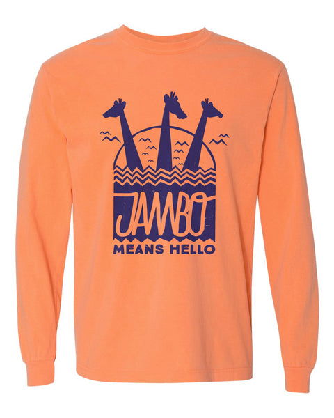 Jambo, Long Sleeve Tee, Orange