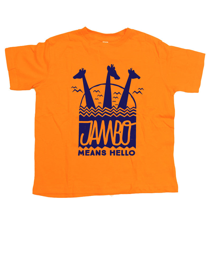Jambo, Kids Crew Neck Tee, Orange