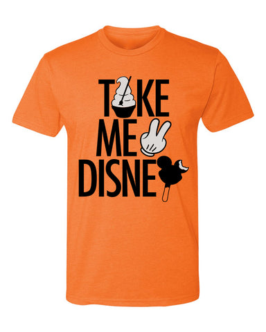 Take Me 2, Crew Neck Tee, Pumpkin Orange