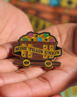 SALE, Mine Train Union Golden Pin